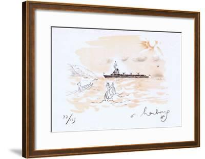 Revue Navale-Andr? Hambourg-Framed Limited Edition