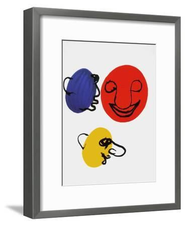 Derrier le Mirroir, no. 221: Visages-Alexander Calder-Framed Collectable Print