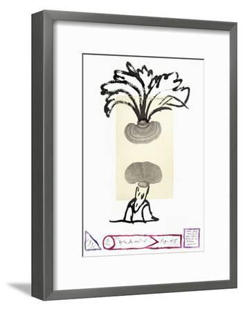 Flora Danica Fig. 5-Pierre Alechinsky-Framed Premium Edition