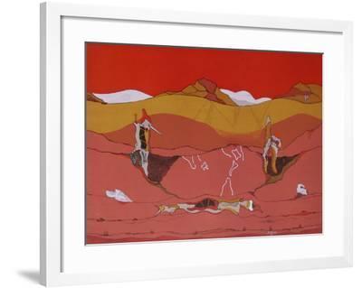 Composition SurréaIIste II-Jorge Camacho-Framed Limited Edition
