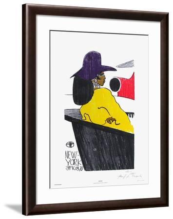 Waiting - New York Jfk 09.70-Florent Margaritis-Framed Limited Edition