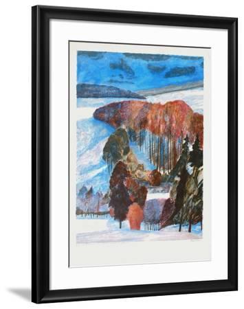 Forêt en automne-Guy Bardone-Framed Premium Edition
