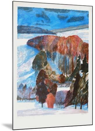 Forêt en automne-Guy Bardone-Mounted Premium Edition