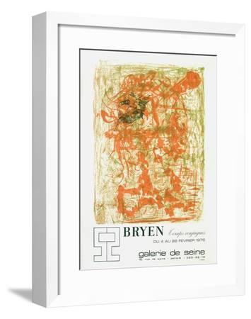 Expo Galerie De Seine-Camille Bryen-Framed Collectable Print