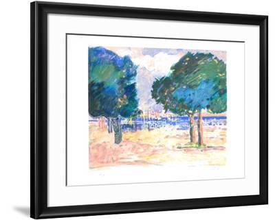 Le port de Sainte Maxime-Gilles Gorriti-Framed Limited Edition