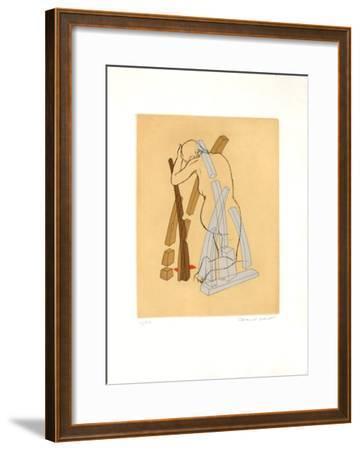 Femme Agenouillée-Marcel Jean-Framed Limited Edition
