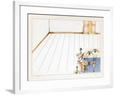 Scène D'Intérieur-Emilio Ortiz-Framed Limited Edition