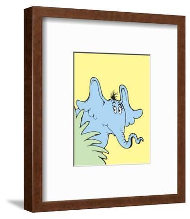 Horton Hears a Who (on yellow)-Theodor (Dr. Seuss) Geisel-Framed Art Print
