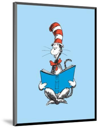 The Cat in the Hat (on blue)-Theodor (Dr. Seuss) Geisel-Mounted Art Print