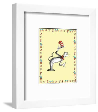 The Cat in the Hat: The Cat (on yellow)-Theodor (Dr. Seuss) Geisel-Framed Art Print