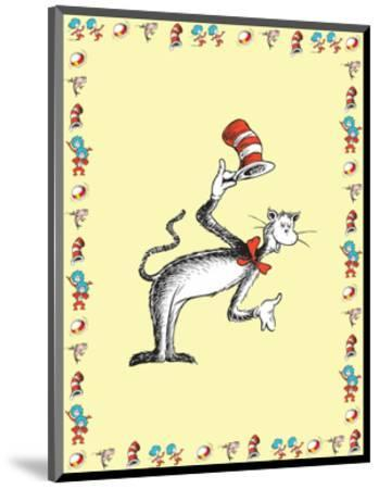 The Cat in the Hat: The Cat (on yellow)-Theodor (Dr. Seuss) Geisel-Mounted Art Print