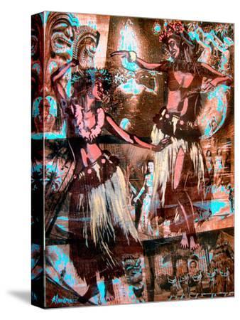 Hula Girls-Marco Almera-Stretched Canvas Print