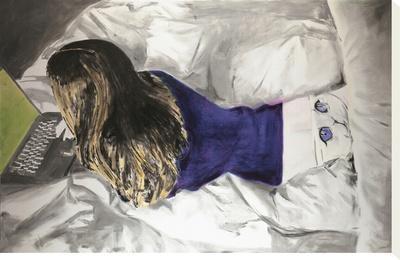 Untitled-Miltos Manetas-Stretched Canvas Print