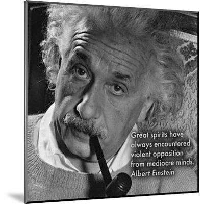 Albert Einstein--Mounted Art Print