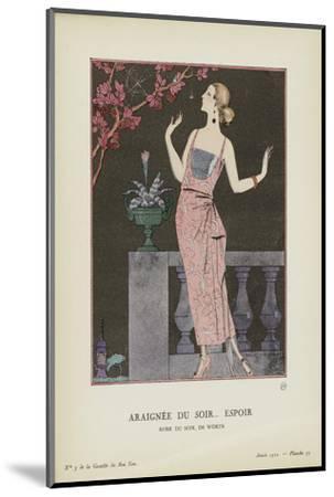 Araignee-Georges Barbier-Mounted Art Print