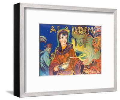 Aladdin: London Pantomime Theatre Poster, c.1930s--Framed Art Print