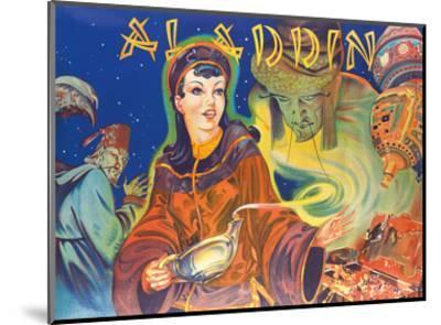 Aladdin: London Pantomime Theatre Poster, c.1930s--Mounted Art Print