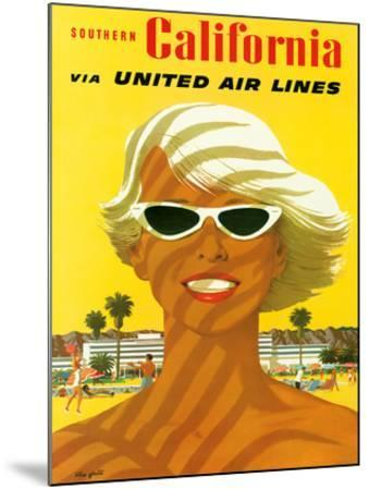 Fly United Air Lines: Southern California, c.1955-Stan Galli-Mounted Giclee Print