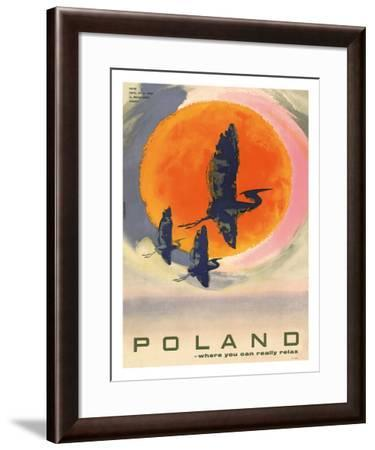 Poland: Where You Can Really Relax, c.1965-T^ Jodkowski-Framed Giclee Print