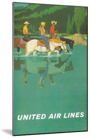 United Air Lines: Horse Back Riders, c.1960s-Stan Galli-Mounted Art Print