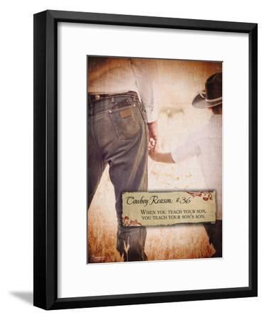Reason no. 36: Teach Your Son-Shawnda Eva-Framed Art Print