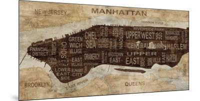 Manhattan Neighborhoods-Luke Wilson-Mounted Art Print