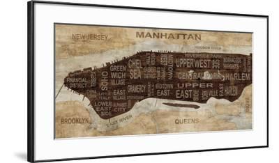 Manhattan Neighborhoods-Luke Wilson-Framed Art Print