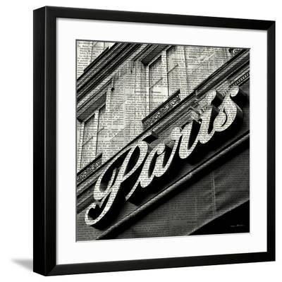 Newsprint Paris-Marc Olivier-Framed Art Print