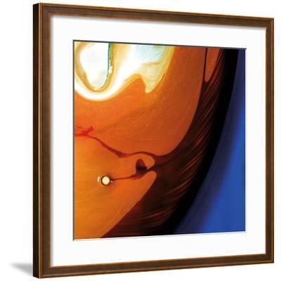 Orange Swirling Abstract, c.2008-Pier Mahieu-Framed Premium Giclee Print