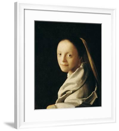Portrait of a Young Woman-Johannes Vermeer-Framed Giclee Print