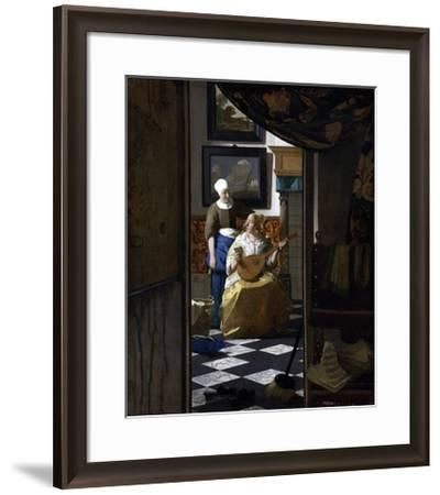 The Love Letter-Johannes Vermeer-Framed Giclee Print