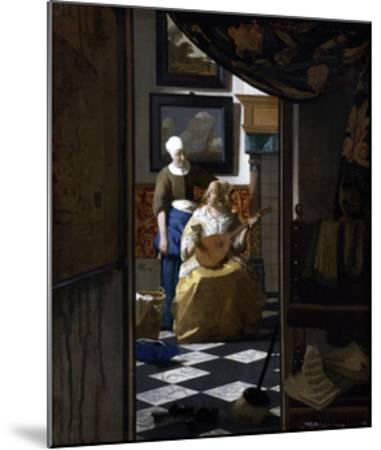 The Love Letter-Johannes Vermeer-Mounted Giclee Print