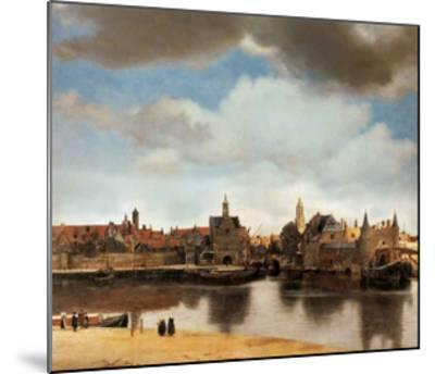View of Delft-Johannes Vermeer-Mounted Giclee Print