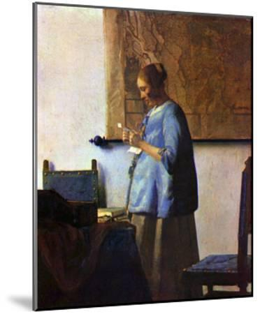 Woman in Blue Reading-Johannes Vermeer-Mounted Giclee Print