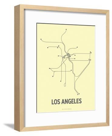 Los Angeles-Line Posters-Framed Serigraph