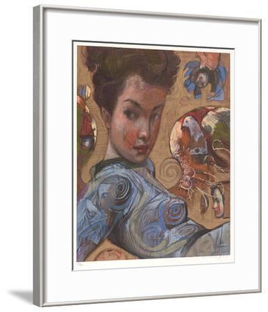 Avian Suite Blau I-Michael Dwyer-Framed Limited Edition