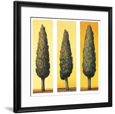 Zypressen Gelb, c.1998-Folkert Rasch-Framed Collectable Print