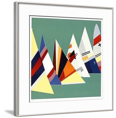 Shark Line-up-Jonas Hvid Sondergaard-Framed Limited Edition