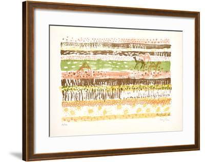 Ohne Titel VI-Eduard Bargheer-Framed Limited Edition