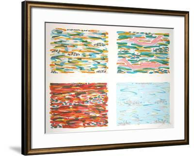 Four parts swimmer-Salom?-Framed Limited Edition