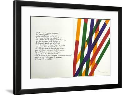 Jean Cassau-Piero Dorazio-Framed Limited Edition