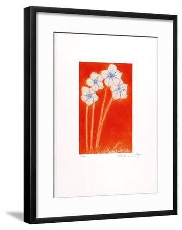 Vier auf orange-Josef Hirthammer-Framed Limited Edition