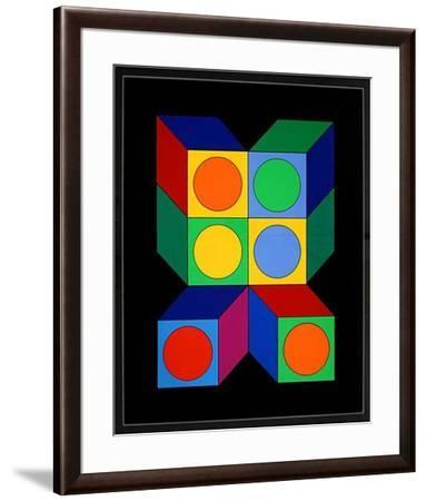 Motiv VIII-Victor Vasarely-Framed Limited Edition