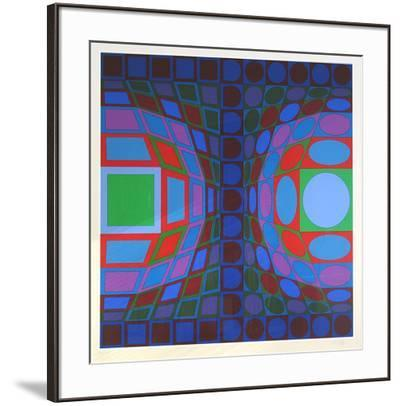 Ohne Titel LX-Victor Vasarely-Framed Limited Edition