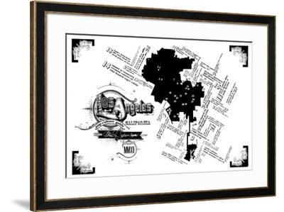 Los Angeles Pop Culture Map-Kyle & Courtney Harmon-Framed Serigraph