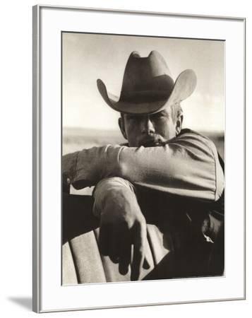 James Dean on Location for Giant--Framed Art Print