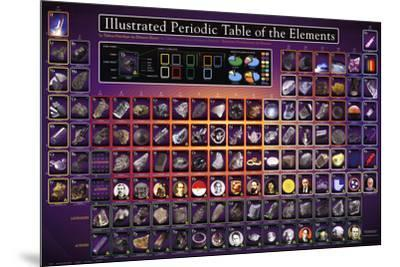 Illustrated Periodic Table of the Elements Educational Poster--Mounted Poster