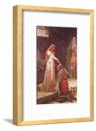 The Accolade-Edmund Blair Leighton-Framed Art Print