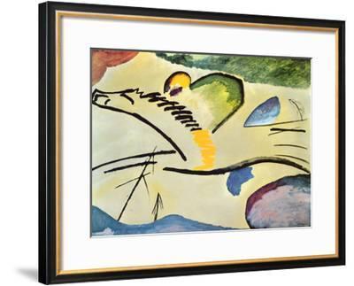 Man On A Horse-Wassily Kandinsky-Framed Art Print