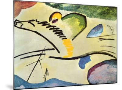 Man On A Horse-Wassily Kandinsky-Mounted Art Print